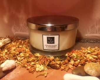 Cedar wood fragranced candle