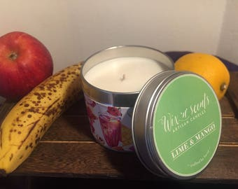 Lime and Mango Scented Candle