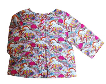 Tunic Liberty Land of dreams in sizes 3/6/12/18/24 months, 3/4 and 4/5 years