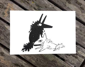 Buddy Wolf Print