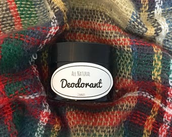 All Natural Deodorant - Unscented - 2 ounces