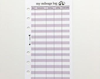 mileage tracker log