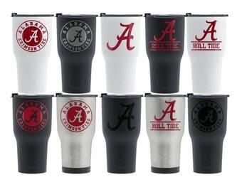 ALABAMA Crimson Tide Rtic Bama Gift 30oz Cup Mug Tumbler Bama Gift Idea Alabama Gift for Him Her Alumni Football Fan Decal Alabama Grad Gift