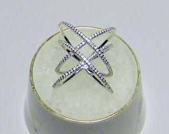 925 silver ring, banded, with cubic zirconia/engagement gift/gift for the friend/