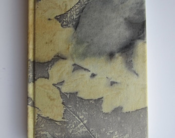 Silk-lined notebook with ecoprint. CE0001M
