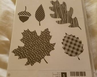 Stampin' Up! Wonderfall Set of 5 New Unmounted Stamps