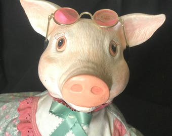 Pig Animal Doll Handmae