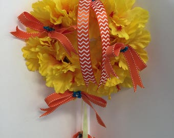 It's A ?  Baby Birth/Nursery Wreath - Yellow and Orange Daffodils