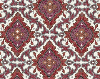 Magenta/Red Aggie Barkcloth, Outback Wife 2018