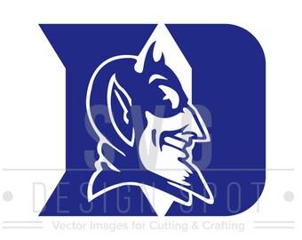 Duke Logo Svg, Dxf, Eps, Png - College Svg Files, Basketball Team Graphic, Duke Blue Devils Logo SVG File, Instant Download
