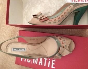 Vintage style soft leather heels EU 38