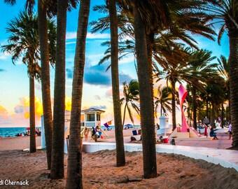 Fort Lauderdale Sunset: 5x7 matted digital print
