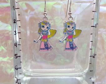 Dangle earrings from Zelda. Taken from the legend of Zelda