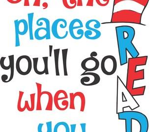 Dr. Seuss Read Across America cut file