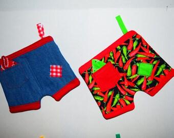 Potholders Pants set of any two