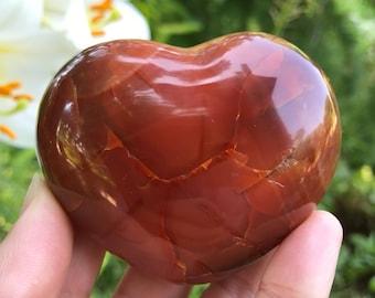 Carnelian Heart Palm Stone