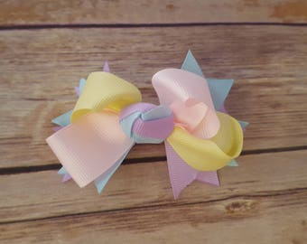 Easter Hair bow, pastel colors, hair accessories, hair bow for girls, girls hair bows, girls hair clips, Girls accessories, hair clips