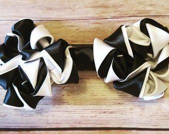Black and white hair bow, hair clip, hair accessories, hair bow for girls, hair bow for women, elegant hair bow, fancy hair bow, hair