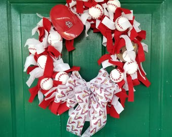St. Louis Cardinals Baseball Wreath