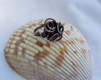 Copper Ring  Size 7 1/2