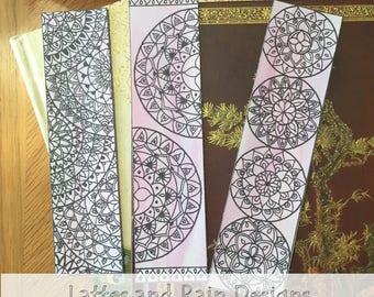 Bookmarks, Mandalas, Zentangles, Printable Bookmarks, Immediate Download