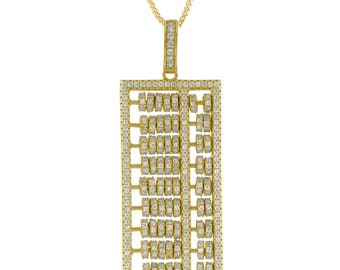 Gold Plated Sterling Silver Calculator Pendant With Chain