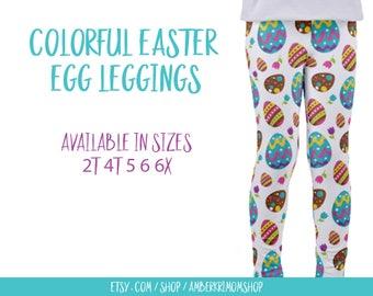 Toddler Leggings / Easter Toddler Leggings / Easter Kids Leggings / Easter Pants / Easter Egg Leggings / Spring Leggings / Toddler Gift