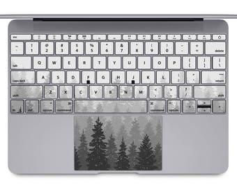 Nature MacBook keyboard landscape MacBook keys decal forest MacBook pro sticker mountain MacBook Air keypad skin MacBook Retina case KB148