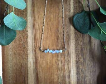 Raw opal necklace