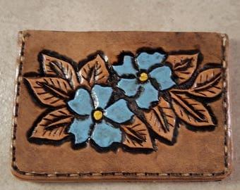 Floral Tooled Wallet