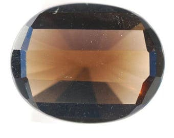Smoky Quartz, Transparent, Golden Gray, Faceted Ovals, Clean, 24ct