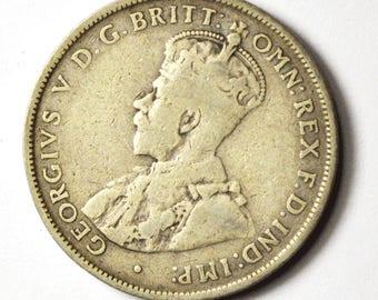 1919 M Australia Florin Two Shillings Silver Coin Rare KM27