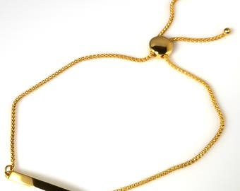Yellow gold plated sterling silver bracelet