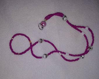 Pink Name Badge Lanyard. Keychain