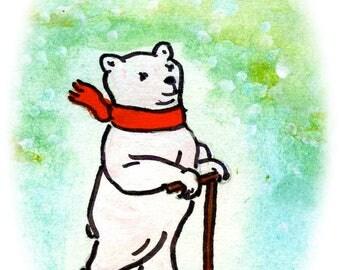Greetings Card - Polar Bear