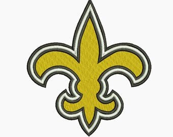 New Orleans Saints Embroidery design 5 Size INSTANT download machine embroidery