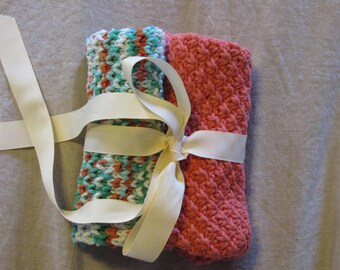 Handknit spa cloths