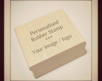 Personalised custom made bespoke logo rubber stamp