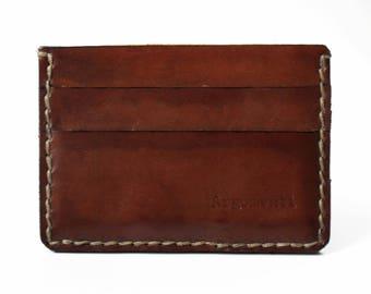 Leather cardholder, wallet, 100% handmade, Argomenti...