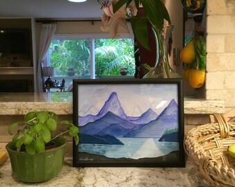 Mountain View Landscape (Original Painting)