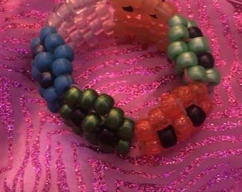 PAC-Man ghost beaded bracelet