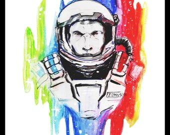 Space Paint Print