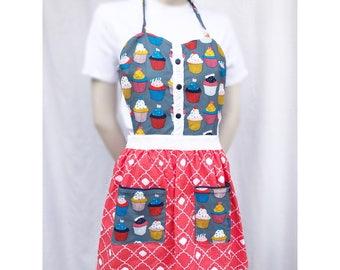 Cupcake sweetheart apron