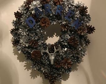 Personalised stag wreath
