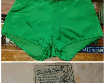 Vintage Emerald Green Tackle Twill Shorts