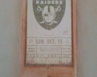 Vintage Raiders Ticket Bottle Opener