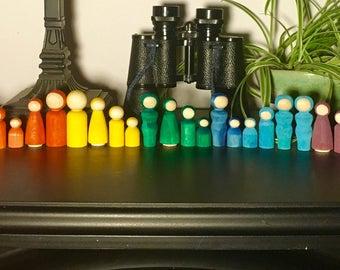 """1""""-1.5"""" Rainbow People"""