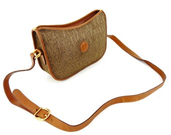 Authentic Vintage Gucci Canvas Leather Cross Body Shoulder Bag