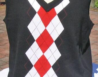 Argyle Sweater Vests 100% cotton