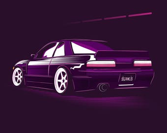 Merveilleux JDM Nissan Silvia S13 Poster / Vector Clipart